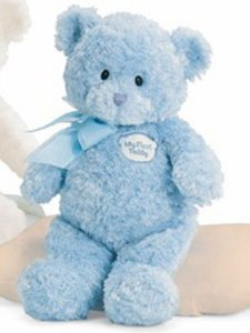 GUND My First Teddy™ Blue 9""
