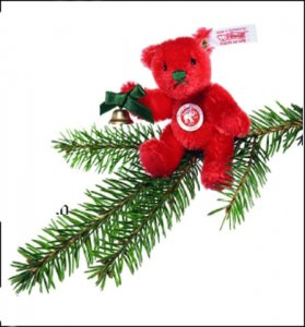 STEIFF Ornament Red Bear 2006