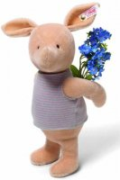 STEIFF Giant Piglet With Flowers