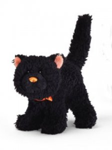 GUND Black Cat Sound Toy Orange