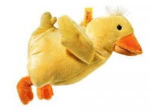 STEIFF Baby Chicken Rattle