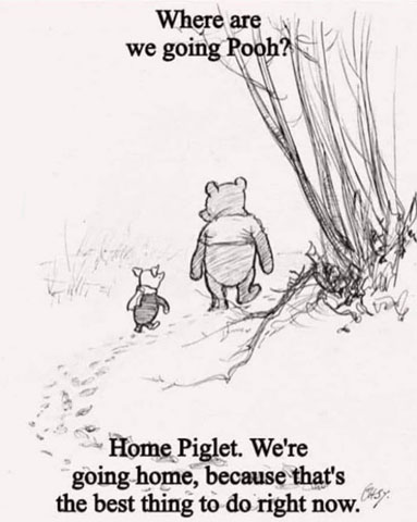 Pooh Going Home