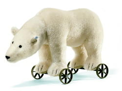 STEIFF Polar Bear On Wheels 2006