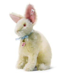 STEIFF Henry Fancy Daisy White Rabbit - Click Image to Close