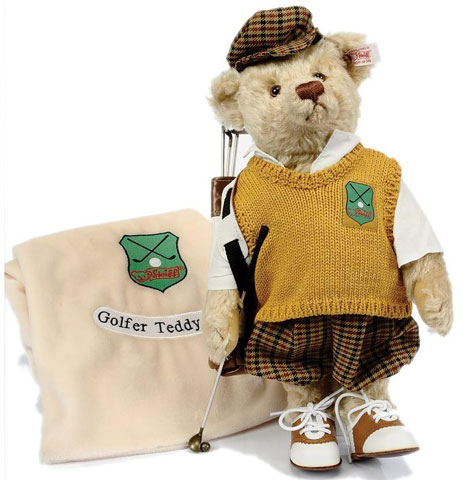 STEIFF Golfer Teddy Bear - Click Image to Close