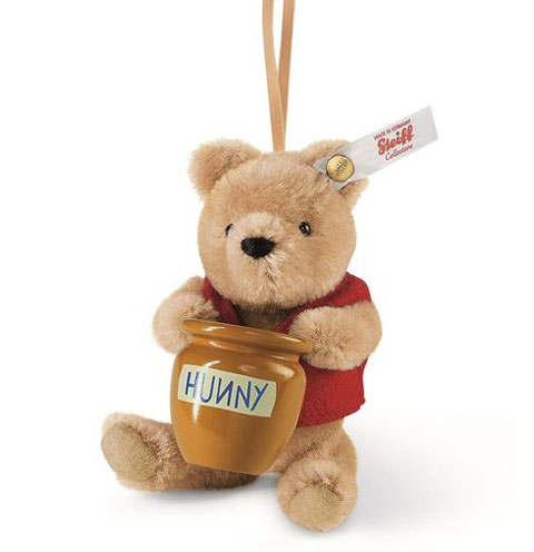 STEIFF Winnie the Pooh and Honey Pot Ornament - Click Image to Close